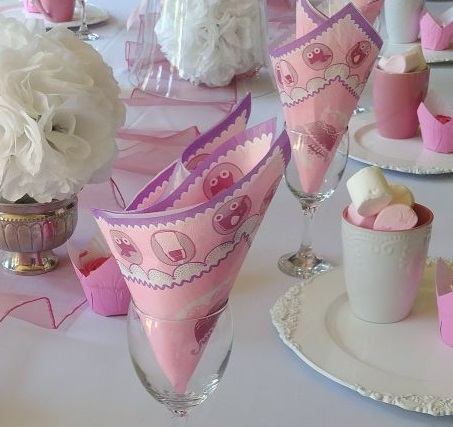 Baby shower table decorations for a girl