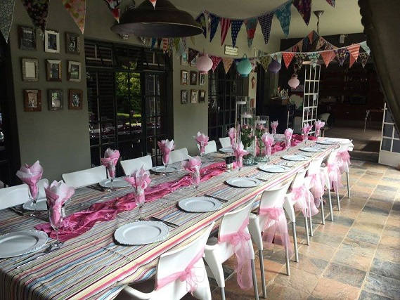 Baby shower venue decoration for a girl